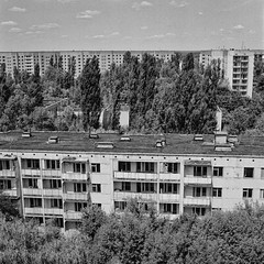 Pripyatwald (naturalbornclimber) Tags: urban bw decay radiation nuclear ukraine hasselblad disaster medium format exploration bnw zone chernobyl exclusion urbex tschernobyl pripyat hasselblad503cx prypjat