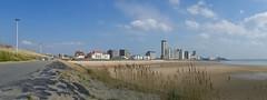 Vlissingen (Fijgje On/Off) Tags: houses sky panorama beach skyline clouds strand wolken lamppost lucht dijk riet dike huizen reet prev lantarenpaal westerschelde fijgje panasonicdmctz60 apr2016 boulevardsvlissingen onexplore24921042016