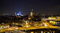 Amsterdam From SkyLounge Bar (Weekend Wayfarers) Tags: street city travel streets travelling netherlands amsterdam travels europe cityscape travellers cityscapes travellings adventure nightscene traveling streetscape travelers travelblog nightpicture nightscenes travelphotography nightpictures travelphotographer travelblogs travelblogger travelings travelbloggers travelphotographers travelblogging weekendwayfarers