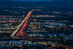 revisited on a higher level (pbo31) Tags: california dublin motion color station night dark evening spring nikon highway view traffic weekend over bart bayarea april pleasanton 680 interchange roadway 580 2016 lightstream boury westdublin pbo31 d810