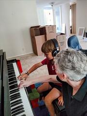 Maxwell and Grandma (Thad Zajdowicz) Tags: california family boy people woman home child grandmother piano indoor grandson inside pasadena zajdowicz