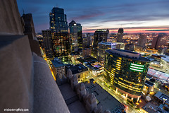 Kansas City Missouri Downtown Skyline (ericbowers) Tags: horizontal sunrise cityscape earlymorning scenic nopeople kansascity missouri highrises cityscene skyscapers highangleview midwestusa elevatedview builtstructure