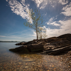 Crystal Point - Beaver's Bend (f_desmet) Tags: statepark park longexposure sky lake oklahoma nature clouds landscape unitedstates outdoor filter peninsula brokenbow beaversbend ourland 10stop hochatown ourplanet faithdesmet