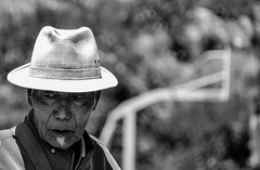 Mr. White Hat (DanieleS.) Tags: street travel portrait bw white black hat wow photography mono photo amazing cool strada shot good great tibet tibetan dannyboy bianco ritratto nero daniele salutari forografia ilovedannyboy