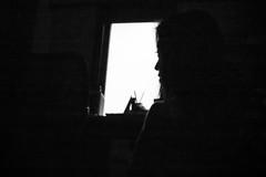 IMG_9484 (l e o j) Tags: family blackandwhite woman house home window monochrome silhouette japan canon eos rebel blackwhite kiss maki profile aunt miyazaki   xsi  x2      450d