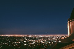 Shooting Star Over Los Angeles (Camille Aligue) Tags: city urban lights losangeles downtown citylights griffithobservatory shootingstar