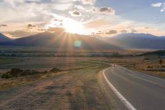 Buena Vista (PlataYOro) Tags: road sunset sky sun mountain mountains car clouds spring colorado roadtrip buenavista rockymountains