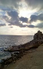 صخرة الإنتحار Latakia (nesreensahi) Tags: sunset sea sky people sun beach nature clouds landscape waves corniche syria siria سوريا syrie latakia اللاذقية سورية