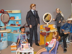 A Day at the Salon (larry_boy17) Tags: set kids ink stacie doll dolls play ken barbie indoor scene indoors chip salon inside sets mattel playset myscene my fashionroyalty paulbratter cityshopper chipfarnsworth