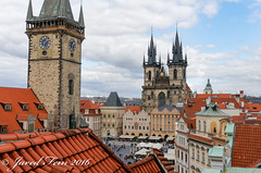 Old Town Prague (SewerDoc (2 million views)) Tags: prague czechrepublic tynchurch centraleurope oldtownhalltower pragueoldtownsquare