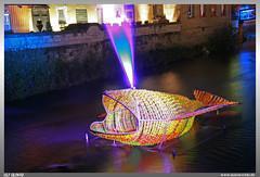 Kronach leuchtet 2016 (uslovig) Tags: show light fish castle river licht fisch whale wal burg rosenberg festung 2016 haslach kronach flus leuchtet hasslach