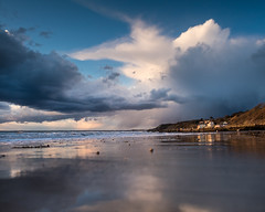 Stormy Totland Sunset - DSCF8189 (s0ulsurfing) Tags: sunset seascape beach nature evening bay coast fuji natural dusk shoreline coastal shore april fujifilm coastline isle wight 2016 totland s0ulsurfing xt1