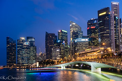 City Lights Singapore (kcchoy60) Tags: sunset color water singapore citylights merlion 2015