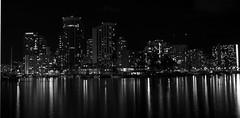 kmangkanldgf (c.thompkins87) Tags: blackandwhite white black hawaii downtown cityscape oahu nightlight honolulu nightlife oceania alaoanapark