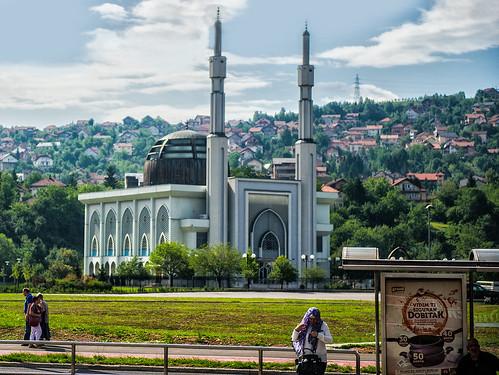 Masjid Istiqlal...simbol persatuan baru Bosnia   flickr.com