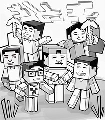 MINECRAFT GAME YOUTUBERS - ROUGH (Works by Issao Bazolli) Tags: colour art illustration digital gamers vetor gamming youtube illustrao youtubers minecraft