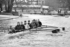 Go 124 (marona-photography) Tags: cambridge bw rowing rivercam niksoftware sliverefexpro