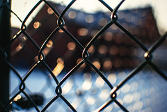 fenced bokeh (ewitsoe) Tags: street snow cold ice 35mm walking frozen nikon bokeh poland freeze snowing zima colder witner snowed poznan wintery d80 ewitsoe erikwitsoe