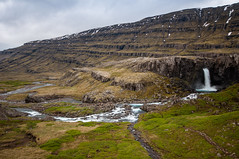 Another Waterfall, another Emotion (Lorenzo Sedita) Tags: trip panorama field waterfall iceland nikon emotion cloudy 10 sigma fjord geology 20 viaggio traps geologia astonishing cascata islanda emozione