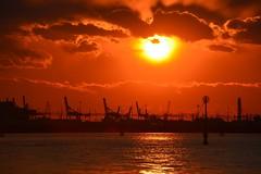 Sunset as it is seen from Venice / Calar del sole come si è visto da Venezia / Pôr-do-sol visto de Veneza