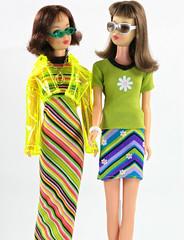 Twist n' Turn Francies in Skipper Fashion Avenue (moogirl2) Tags: barbie skipper mattel francie fashionavenue 90sfashion vintagefrancie fashionavenueskipper delias90s