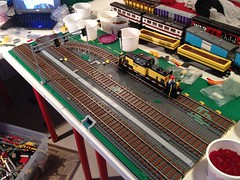 New layout(?) (UrbanErwin) Tags: train model track lego wip build module moc