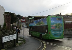 Southern Vectis Scania Omnicity bodied Scania N270UD VDL744 in Wroxall 9 February 2016 (IslandYorkie) Tags: buses isleofwight 1111 doubledecker wroxall backendofabus southernvectis opentopbuses islandbreezer scaniaomnicity scaniabuses svoc goaheadgroup gosouthcoast vdl744 busesinthesouthofengland busesontheisleofwight scanian270ud scaniabody
