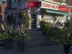 Dunn Milk (geowelch) Tags: toronto parkdale urbanlandscape urbanfragments olympusomdem5 panasoniclumixvario1445mm