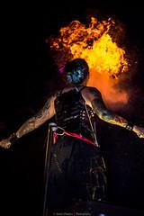i Breath Fire (Samir Pandya-Adelaide(Captured Moments..)) Tags: girl blackbackground fire action fringe parade tattoos flame adelaide performer fireshow inked tattooedgirl breathingfire