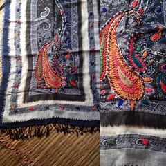 ผ้าคลุมไหล่&ผ้าพันคองของประเทศเนปาล ทำมาจากขนแกะงาน handmade ทั้งผืน by puicraft.tumblr.com