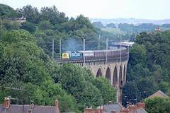 16-08-2008 55022 ROYAL SCOTS GREY on Durham Viaduct (steveporrett) Tags: grey durham north royal viaduct scots the yorkshireman 55022 16082008 1z55