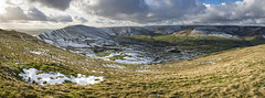 Wide view of the Edale Valley (Keartona) Tags: winter england panorama snow landscape view derbyshire peakdistrict hills valley breathtaking edale moorland castleton