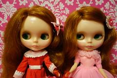 Poppy and Pandora.... (Primrose Princess) Tags: vintage mod doll retro redhead kenner blythe 1972 bemyvalentine kennerblythe vintageskipper valentinessday dollydreamland
