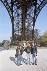 At the Eiffel tower - 1999 (Ronald_H) Tags: paris tower film jeroen eiffel 1999 cees liejon
