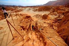hiking in Timna park - Negev-Desert - Israel (Lior. L) Tags: park travel people mountains nature trekking trek canon landscape israel landscapes scenery view desert outdoor hiking sigma wideangle southern negev canondslr timna ultrawideangle negevdesert sigma1020 timnapark southernisrael timnavalley canon600d travelinisrael canont3i canonkiss5 hikingintimnaparknegevdesertisrael