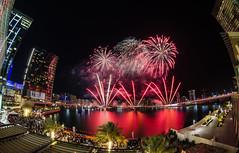 Fire Works at Abu Dhabi (Rainbow Studios Ramnad) Tags: red sea water island nikon waterfront fireworks chinesenewyear tokina abudhabi 8mm f8 2016 galleriamall architec fisheeye d7000 nikond7000 almaryahisland