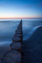 1505247a (Bogdan Szadowski) Tags: sunset sea poland breakwater eba
