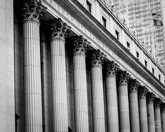 James A. Farley Post Office Building (brianloganphoto) Tags: new york nyc urban blackandwhite bw white newyork black building monochrome architecture office post general postoffice landmark ave use government historical 33rd avenue eight 8th 31st between landcape sts beauxarts eightavenue generalpostofficebuilding 8thavebetween31stand33rdsts