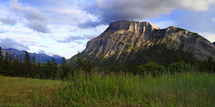 Mt. Rundle (Matt Champlin) Tags: life camping sunset wild summer mountain canada canon rockies evening amazing hiking alpine alberta rugged albertacanada banffnationalpark 2015