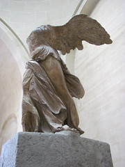 Winged Victory. (dckellyphoto) Tags: sculpture woman paris france art statue female headless îledefrance louvre nike armless wingedvictory 2010 artmusuem nikeofofsamothrace