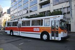 1976 Flyer E800 # 5300 (busdude) Tags: bus electric coach flyer san francisco trolley railway muni municipal trolleybus e800 trolleycoach