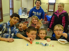 Bristlebots at teen makerspace (Geauga County Public Library) Tags: teens races makerspace bristlebots