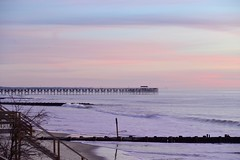 Sunrise, Pawleys Island, SC (shireye) Tags: sc sunrise pier nikon dunes southcarolina fullframe atlanticocean ff dx pawleysisland softtones d610