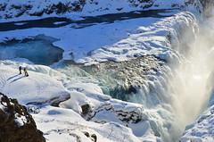 Gullfoss (timnutt) Tags: sky snow nature landscape golden waterfall iceland falls gullfoss goldenfalls