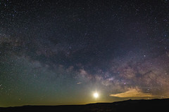 La Leche / La Luna (Charles' Snaps) Tags: clouds canon landscape sigma astrophotography monolake sierranevada hwy395 milkyway easternsierras longexposures sigmalenses 395north canon6d teamcanon on1photos on1pics sigmaart24mm visitmammoth