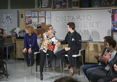 IMG_2053  Premier Kathleen Wynne engaged in a discussion with students from Danforth Collegiate and Technical Institute on financial assistance for post secondary education. (Ontario Liberal Caucus) Tags: school toronto college students education university highschool tuition potts coteau osap