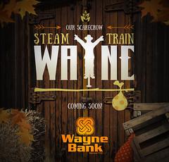 Steamtrain Wayne for Social Media (Justin Roach Work Stuff) Tags: advertising design graphicdesign bank batman nepa brucewayne honesdale 570 waynebank