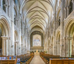 Christchurch Priory, Dorset (JackPeasePhotography) Tags: christchurch tower architecture spring arches norman nave dorset priory