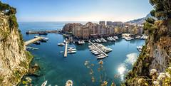 Port De Fontvieille Monaco (Demis de Haan) Tags: sunset sea panorama port de french landscape boats harbor mediterranean riviera pano albert prince monaco carlo monte fontvieille