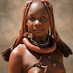 Young Himba girl ready for marriage (Linda DV (away)) Tags: africa street travel portrait people nature face canon river geotagged candid culture clothes ochre ethnic minority discovery namibia himba ethnology worldtravel southernafrica travelphotography kaokoland travelportrait 2013 geomapped ovahimba minorit minderheid exploretheworld lindadevolder otjikandero otjize powershotsx40 picmonkey